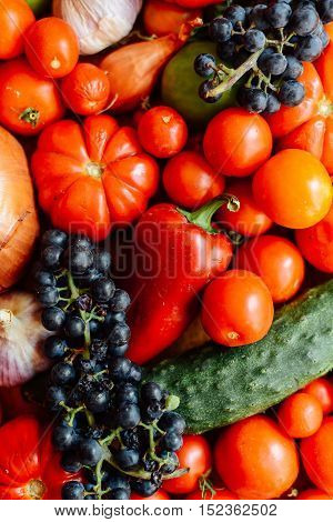 Vegetable Background. Healthy Lifestyle. The Concept Of Proper N