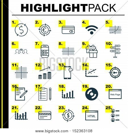Set Of 25 Universal Editable Icons For Human Resources, Education And Airport Topics. Includes Icons