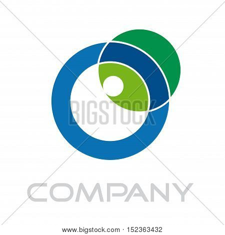 Vector sign letter O green energy isolated in white