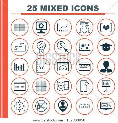 Set Of 25 Universal Editable Icons For Human Resources, Airport And Computer Hardware Topics. Includ