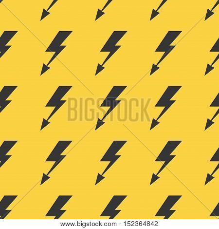 Black yellow lightnings vector pattern seamless background illustration