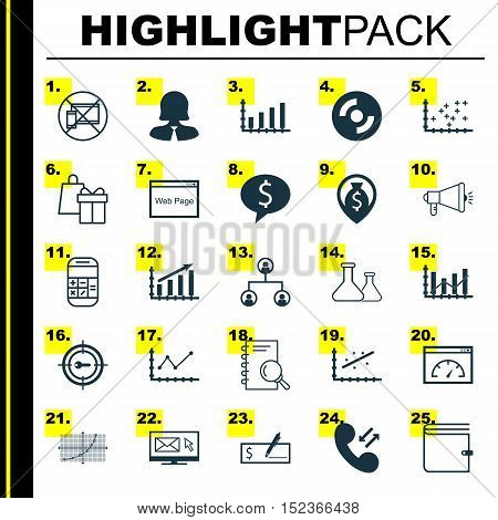 Set Of 25 Universal Editable Icons For Education, Marketing And Seo Topics. Includes Icons Such As P