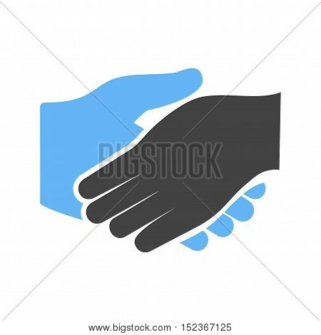 Handshake, business, people icon vector image. Can also be used for hand actions. Suitable for use on web apps, mobile apps and print media.