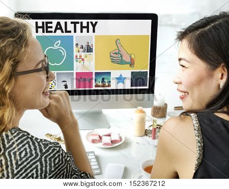 Apple Nutrition Healthcare Wellbeing Browsing Concept