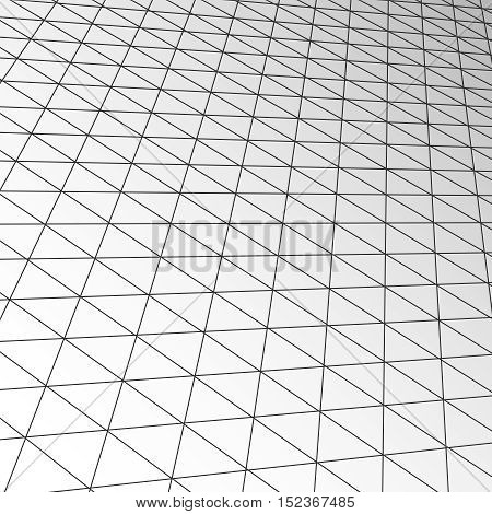 Expansion ceiling tile texture, vector technology modern business futuristic interior. Grid floor space and abstract design background illustration