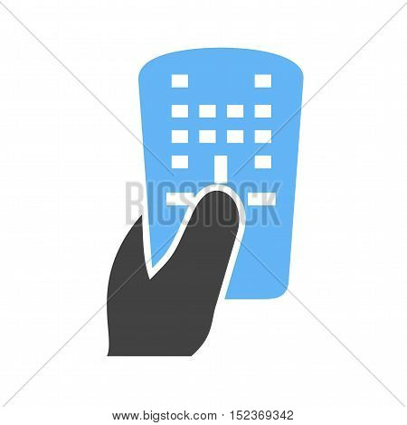 Remote, tv, control icon vector image.Can also be used for hand actions. Suitable for mobile apps, web apps and print media.