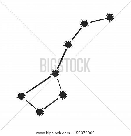 Ursa Major icon in  black style isolated on white background. Space symbol vector illustration.