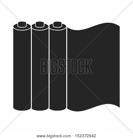 Color printing paper in  black style isolated on white background. Typography symbol vector illustration.