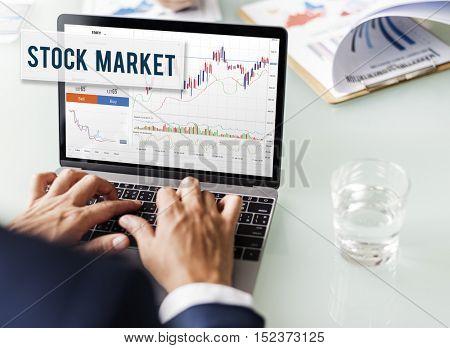 Businessman Stock Market Plan Concept