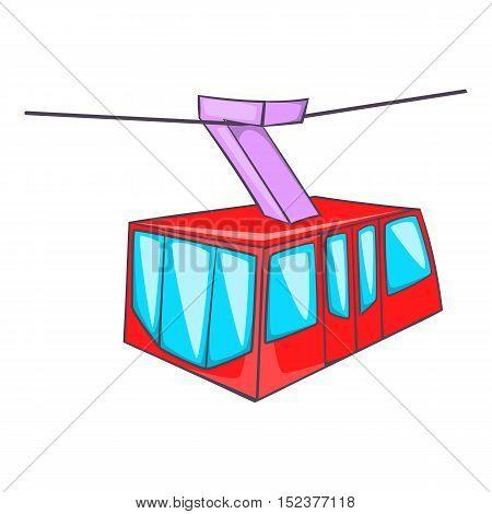 Istanbul tram icon. Cartoon illustration of tram vector icon for web design