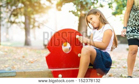 Child playing in a park
