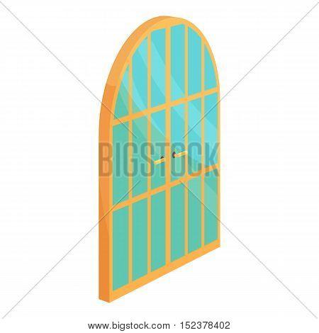 Garden door icon. Cartoon illustration of door vector icon for web design