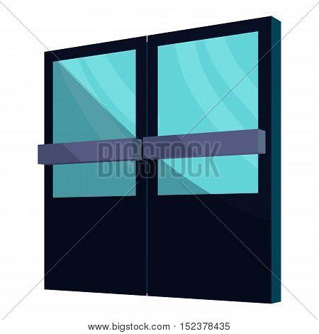 Supermarket door icon. Cartoon illustration of door vector icon for web design