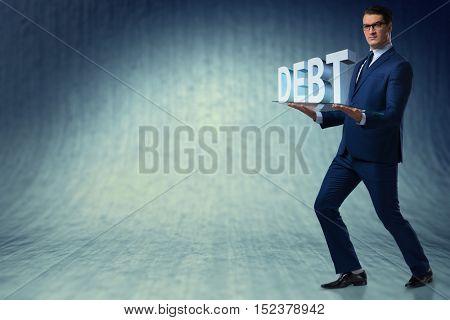 Man struggling with high debt