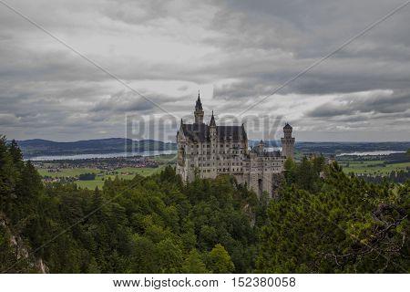 A fairy tale castle in Germany named Neuschwanstein Castle.
