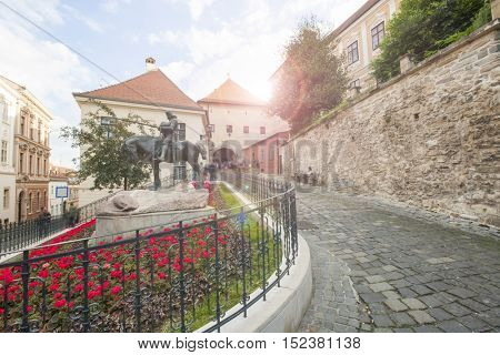 St George and the Dragon Statue; Zagreb; Croatia