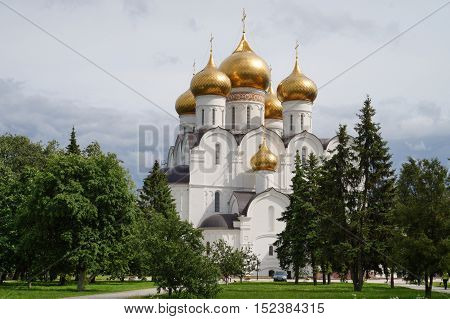 Cathedral of Assumption, Yaroslavl. Golden Ring of Russia.