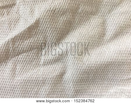 White and crumpled toilet paper texture background