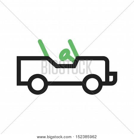 Safari, jeep, desert icon vector image. Can also be used for vehicles. Suitable for web apps, mobile apps and print media.