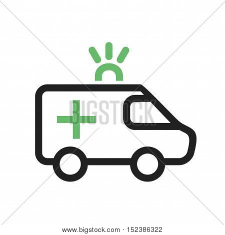 Ambulance, rescue, aid icon vector image. Can also be used for vehicles. Suitable for mobile apps, web apps and print media.