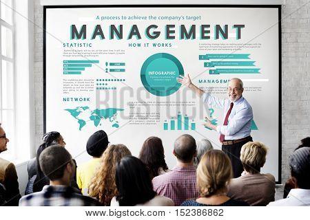 Business Management Marketing Global Plan Concept