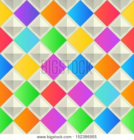 abstract, colorful background with rhombus shapes. Vector EPS10, geometric, fashion wallpaper template. material design backdrop. origami style, vector, presentation banner layout