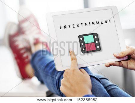 Entertainment Audio Multimedia Podcast Graphic Concept