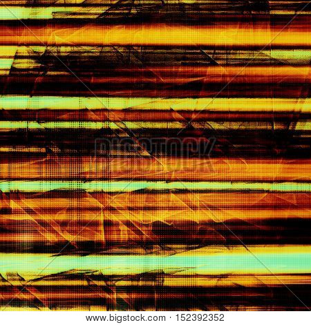 Veined grunge background or scratched texture with vintage feeling and different color patterns: yellow (beige); brown; blue; red (orange); black