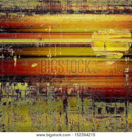 Grunge scratched background, abstract vintage style texture with different color patterns: yellow (beige); brown; gray; red (orange); black; pink