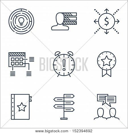 Set Of Project Management Icons On Money, Time Management And Warranty Topics. Editable Vector Illus