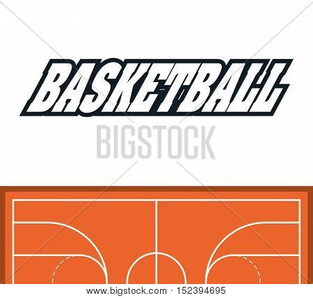 League icon. Basketball sport hobby and competition theme. Colorful design. Vector illustration