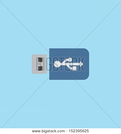 Usb flash drive icon vector illustration sign.