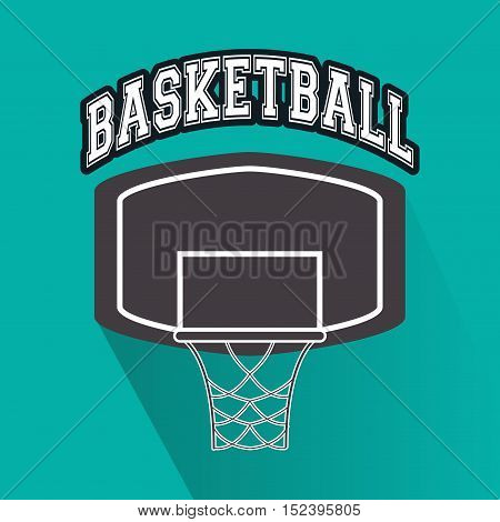 basket icon. Basketball sport hobby and competition theme. Colorful design. Vector illustration