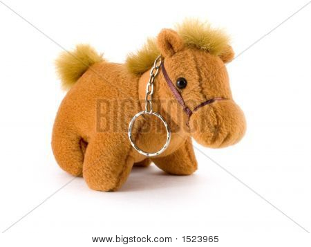 A Toy Horse On White