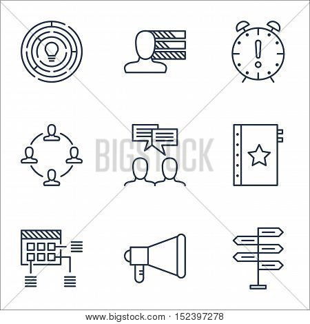 Set Of Project Management Icons On Personal Skills, Opportunity And Schedule Topics. Editable Vector