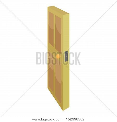 Room door icon. Cartoon illustration of door vector icon for web design