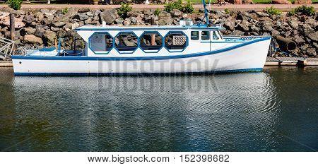 Fishing boats in harbor of Charlottetown Prince Edward Island