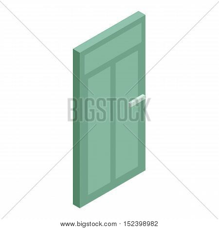 Green interior door icon. Cartoon illustration of door vector icon for web design