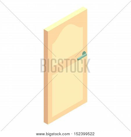 White door icon. Cartoon illustration of door vector icon for web design