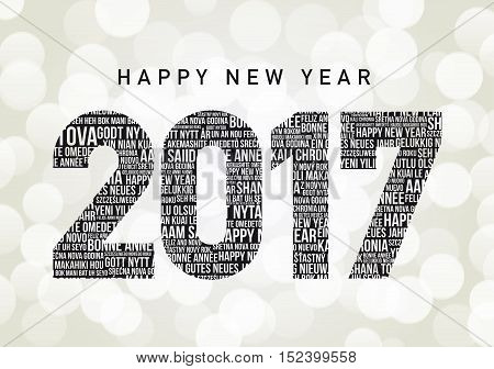 Happy New Year 2017 in different languages all over the world