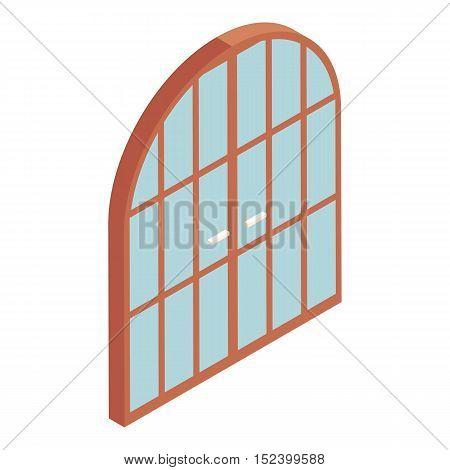 Arched double door icon. Cartoon illustration of door vector icon for web design