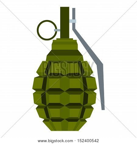 Hand grenade icon. Flat illustration of grenade vector icon for web design