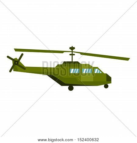 Military helicopter icon. Flat illustration of helicopter vector icon for web design