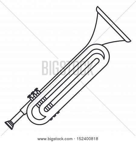trumpet icon. Instrument music sound and musical theme. Isolated design. Vector illustration
