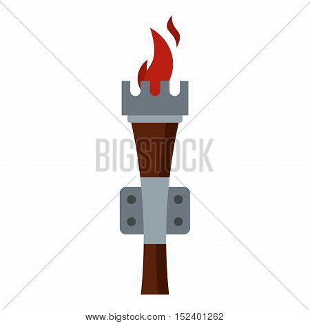 Torch icon. Flat illustration of torch vector icon for web design