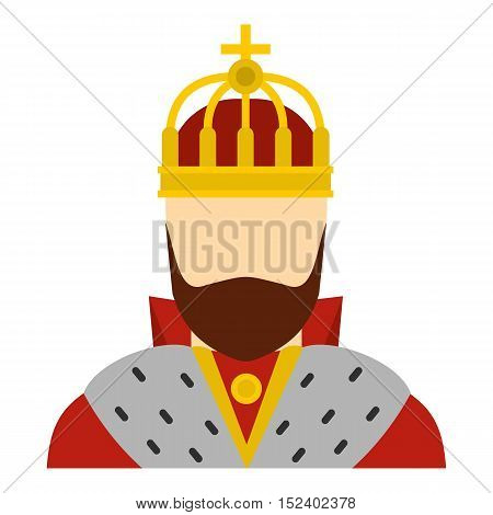 King icon. Flat illustration of king vector icon for web design