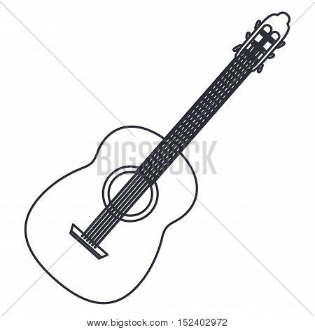 guitar icon. Instrument music sound and musical theme. Isolated design. Vector illustration