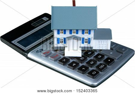 Model of a House on Calculator - Isolated