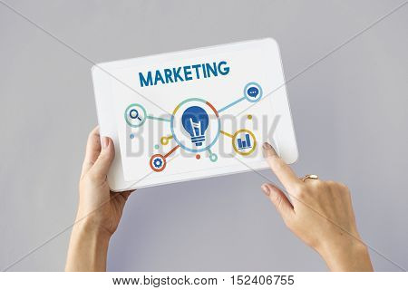 Marketing Business Plan Icon Word Concept