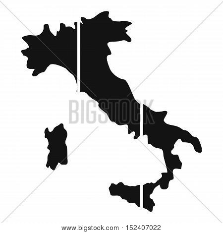 Map of Italy icon. Simple illustration of map of Italy vector icon for web